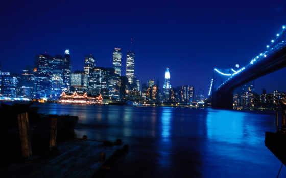 york, нью, ночь