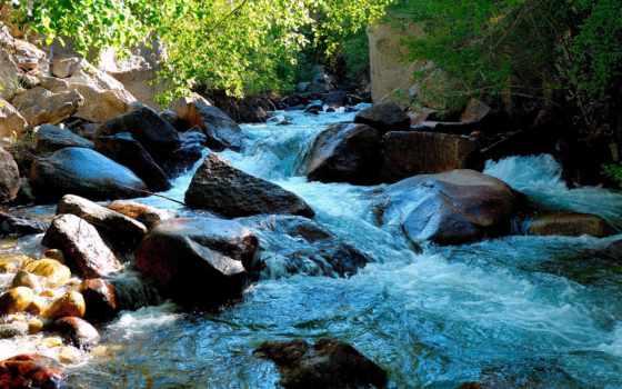 река, горная, марта