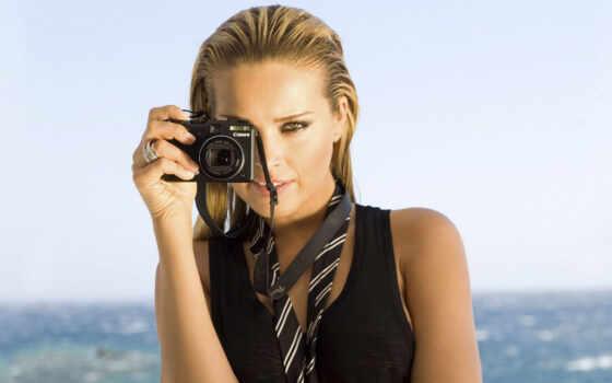 canon, фотоаппарат, девушка