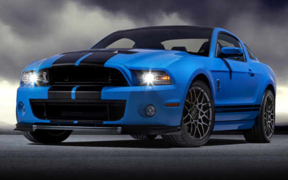 ford, mustang, blue, shelby, шелби,
