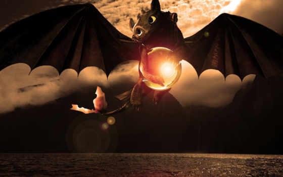 беззубик, дракона, приручить, how, дракон, море, toothless, art, поезд,
