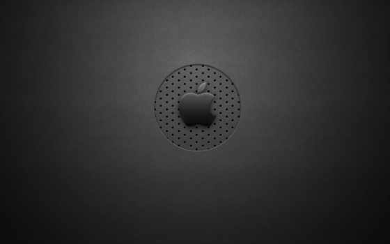 apple, logo, grey