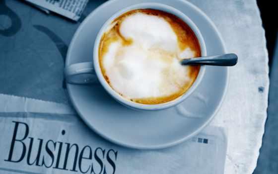 газета, coffee, кружка, spoon, блюдце, мороженое, skin,