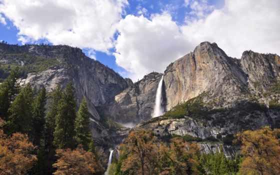 yosemite, national, park, falls, steve, california, usa, dunleavy, landscapes,