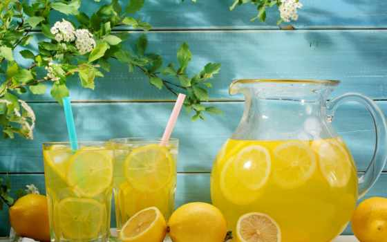 lemonade, лимоны, lemons, cvety, напиток, summer, кувшин, лимонадом, fresh, еда,