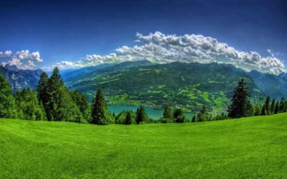 природа, горы, landscape, природы, небо, фотографий, компьютера, компьютер, снег, hdr, трава,