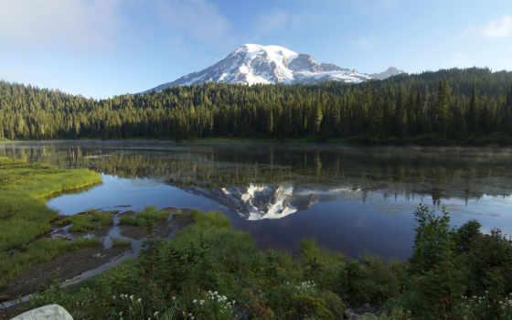 природа, озеро, гора Фон № 65316 разрешение 1920x1200