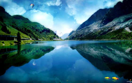 природа, михон, ski, классная, виде, последние, windows, абстракции, ракетчик,