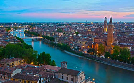 trento, borgo, verona, italy, canal, water, italian, италия, города, панорамы, дома, мост,