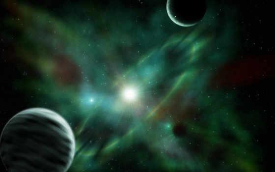 cosmos, планеты, космос, звезды, supernova, art, тест, широкоформатные, зелёный, бесплатные, neshiro,