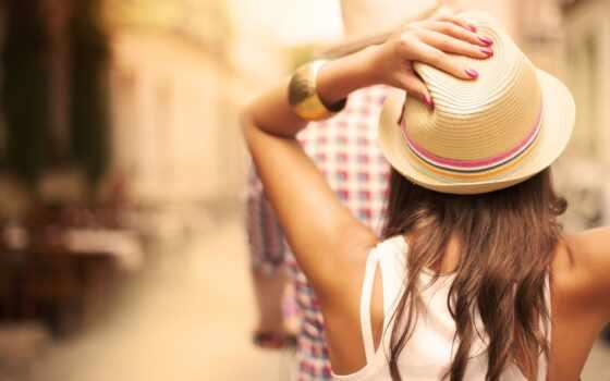 девушка, шляпа, summer, flare, profile, браслет, настроение, заставка, сзади