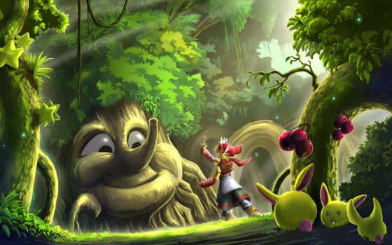 лес, волшебный