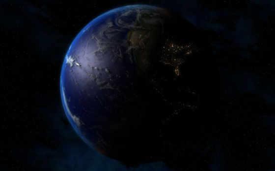 земля, планета, campfires, огни, digitalblasphemy, ночь, космос, free,
