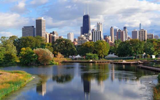 город, chicago, stock
