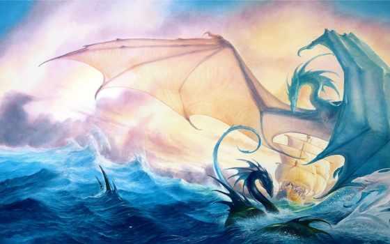 драконы, дракон, корабль