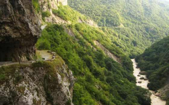 russian, горы, природа, кбр, ущелье, река, черекское, черек, дорога,