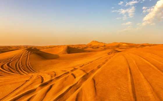 dubai, пустыня, emirates, арабский, oblaka, песок, united, небо,