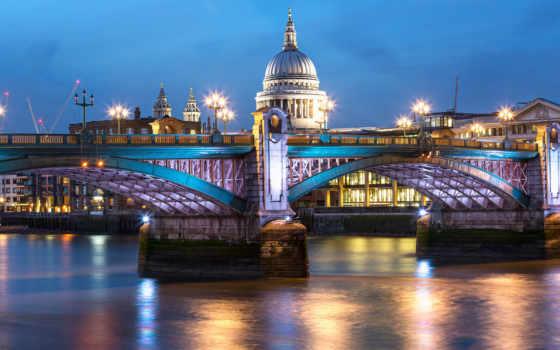 london, мост, ночь