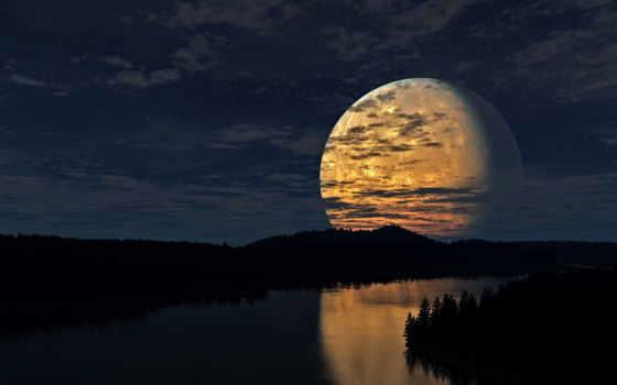луна, небо, облака, ночь, река, звезды, лес, свет, midweek, широкоформатные, photos, рѕр, oficiu, подборка, продырявят, россияне, луну, социум,