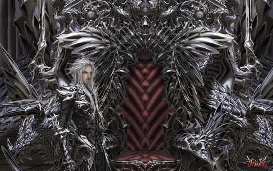 аниме, трон, арт