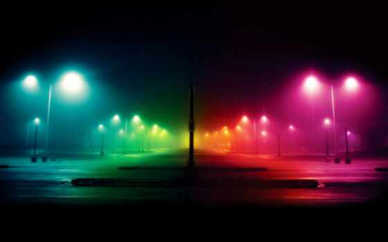 ночь, фонари, улица