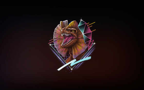 dilophosaurus, jurassic, neon, park, rad, динозавр, vincenttrinidad, art, рубашка, human, design