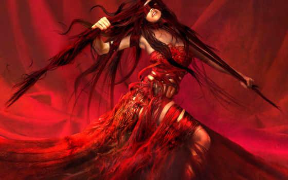 fantasy, red