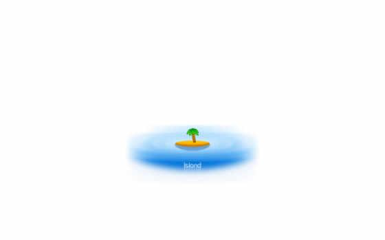 island, desktop