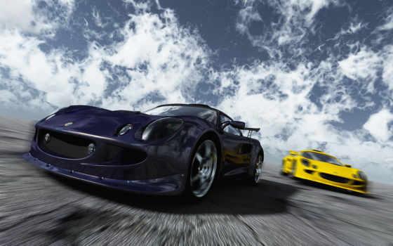 lotus, autos, exige, скорость, гонки, трасса, небо, carrera, iphone, imagenes,