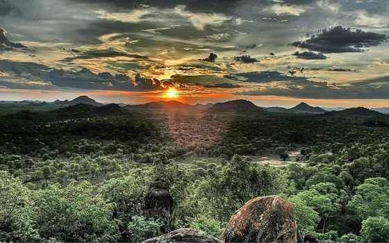 закат, африке