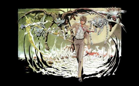 нота, смерть, anime