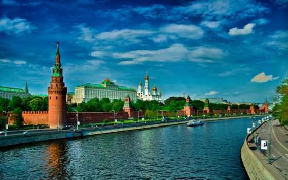 кремль, москва, река