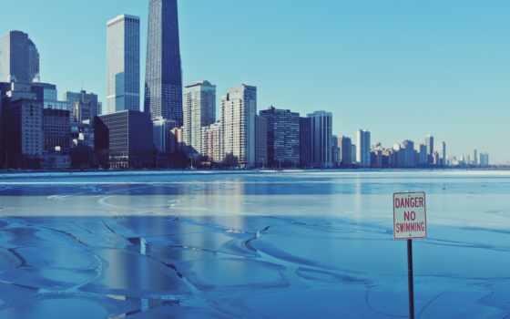 город, chicago, иллинойс