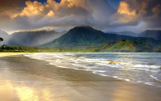 , kauai, house, море, hawaii, моря, дома, побережье,
