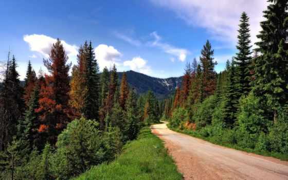 горы, montana, природа, mountains, idaho, дороги, гора,