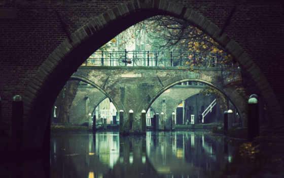 мост, мостом, под, мосты, река, bike, water,