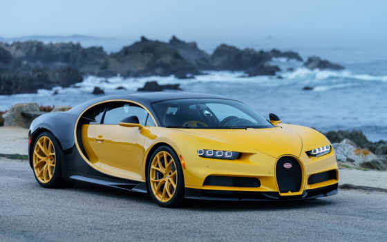 bugatti, chiron, veyron, black, car, спорт, желто,