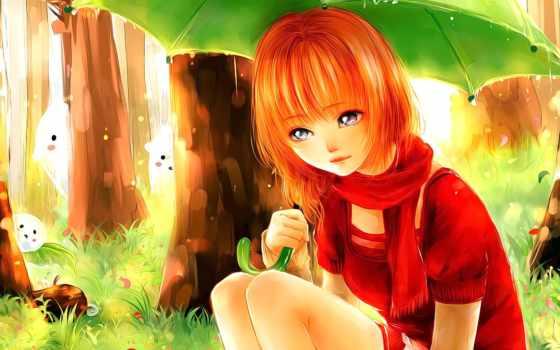 anime, девушка, рыжими, волосами, увеличить, смотреть, рыжая, ajj, нитью, ninja, new,