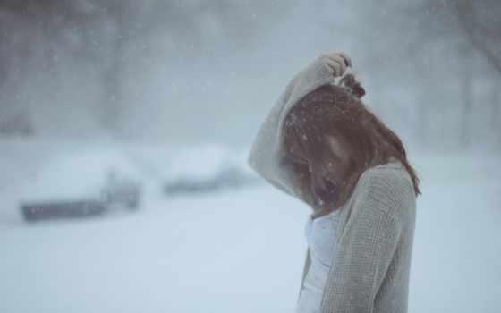 winter, девушка, снег, девушек, loneliness, категории, фоны,