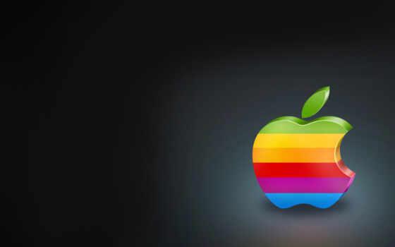 яркие, apple, минимализм, красочные,