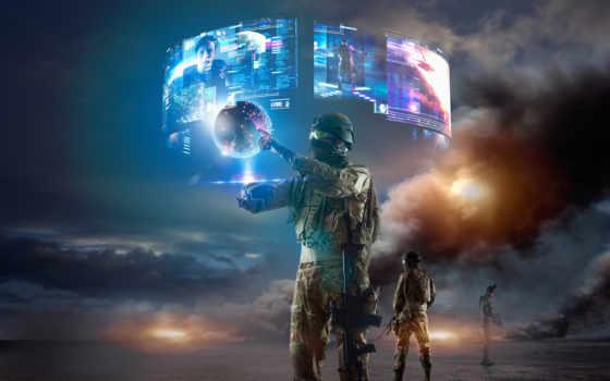реальность, virtual, солдат, виртуальная, реальности, очки, виртуальной,