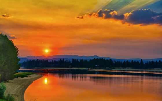 природа, природы, красивые, pinterest, закаты, пейзажи -, медитация, закат,