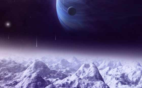 planetas, montañas, fondos, pantalla, para, espacio, nieve, parede, espacial, descargar, las,