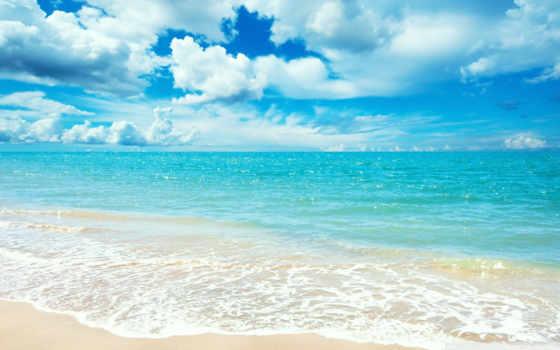 sea, небо