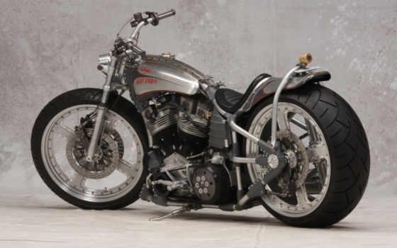 мотоцикл, custom, hot