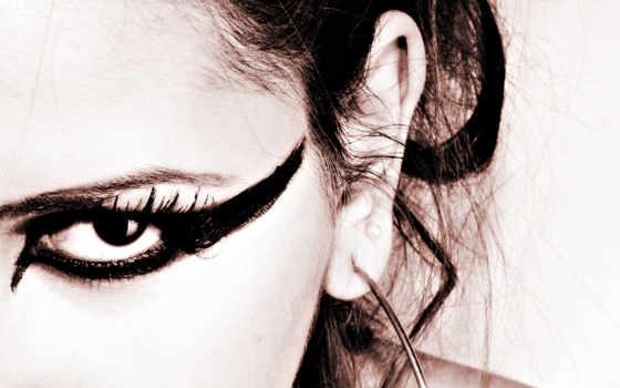 eyes, black, глазах, макияж,
