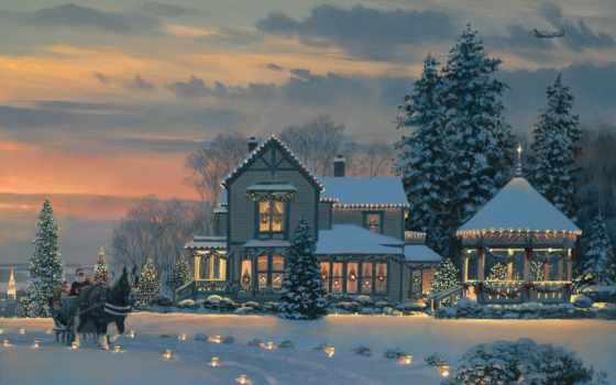 zima, kartinka, новый, god, праздник, игрушки, снег, christmas, рождество,