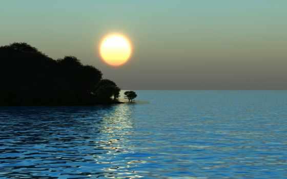 sun, восход, море