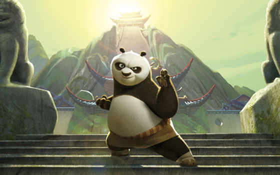 панда, кунг, boo, white, Кунг-фу,