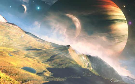cosmos, планеты, landscape
